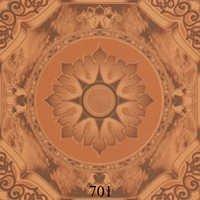 Flower Pattern Wooden Glossy Tiles