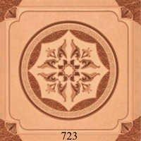 Wooden Glossy Flower Pattern Floor Tiles