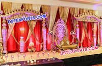 Grand Bollywood Carved Walima Wedding Stage