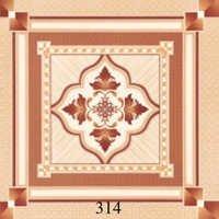 Dark Brown Glossy Floor Tiles