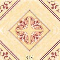 Designer Ivory Brown Ceramic Glossy Floor Tiles
