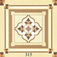 Designer Ivory Brown Glossy Floor Tiles