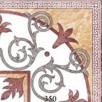 Designer White Glossy Floor Tiles