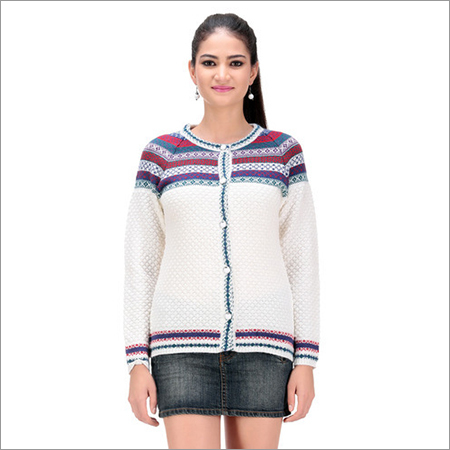 Ladies Woolen Long Cardigan
