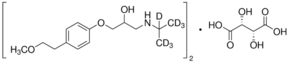 (±)-Metoprolol-(isopropyl-d7) (+)-tartrate salt