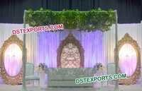 Fiber Oval Shape Wedding Stage Backdrop Frames