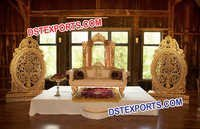 Fiber Carved Mandap Decoration Backdrop Panel