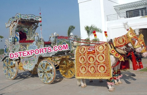 Indian Wedding Peacock Style Horse Buggy