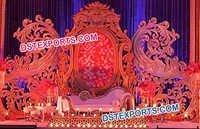 Elegant Fiber Carved Backstage Panel