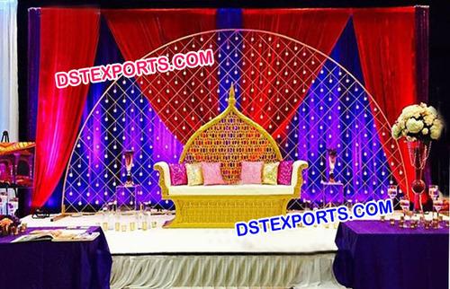 Wedding Stage Half moon Style Candle Backdrop