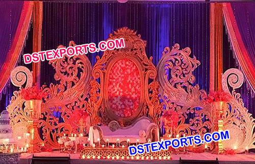 Bollywood Wedding Stage Backdrop Frame Set
