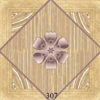Flower Pattern Wooden Glossy Floor Tiles
