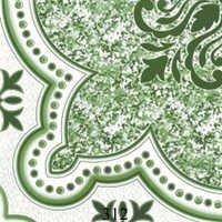 Green Designer Glossy Floor Tiles