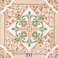 Green Pattern Glossy Floor Tiles