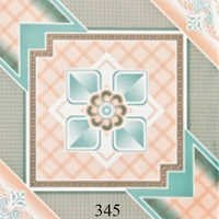 Light Blue Designer Glossy Floor Tiles