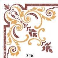 White Brown Glossy Floor Tiles