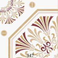 White Brown Pattern Glossy Floor Tiles
