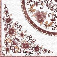 White Brown Pattern Glossy Tiles