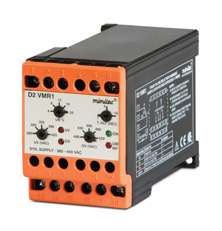Minilec Phase Failure Relays D2 VMR1