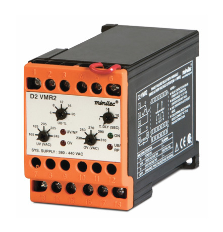 Minilec Phase Failure Relays D2 VMR2