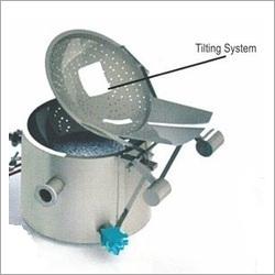 Circular Fryer With Tilting System