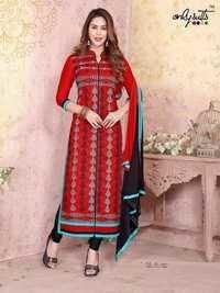 Kenisha Satin Cotton Embriodary Suit