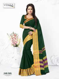 Fancy Cotton Silk Sari