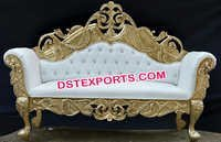 Designer Royal Carved Wedding Couch
