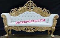 Designer Royal Carved Wedding Couch