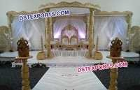 Royal Indian Hand Carved Wooden Mandap