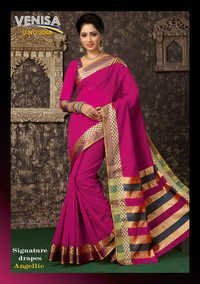 Designer Cotton Silk Sari