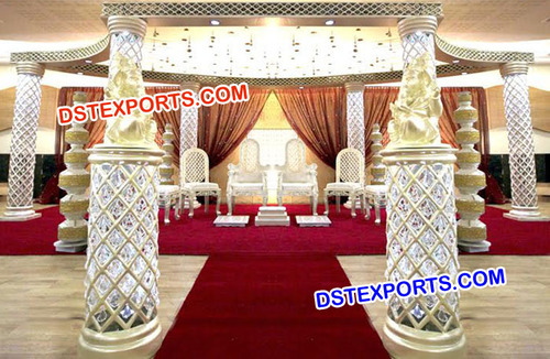 Exclusive Fibre Crystal Wedding Mandap