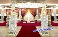 Exclusive Fibre Crystal Wedding Mandap
