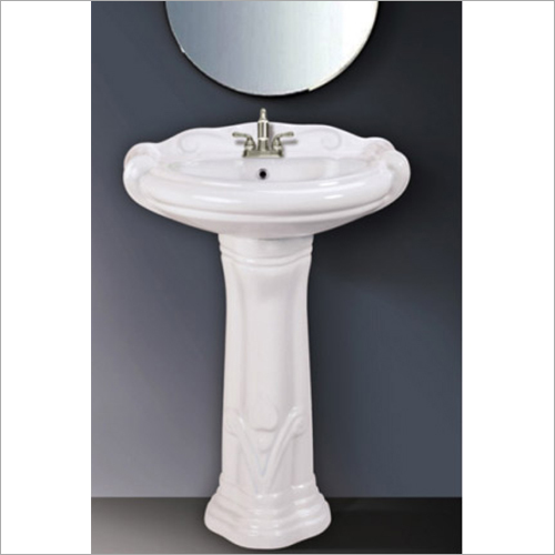 Plain Mini Sterling Pedestal Wash Basin