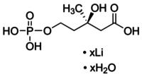 (R)-Mevalonic acid 5-phosphate lithium salt hydrate