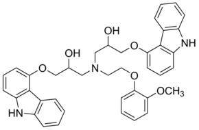 1,1′-{[2-(2-Methoxyphenoxy)ethyl]nitrilo}bis[3-(9H-carbazol-4-yloxy)-propan-2-ol]
