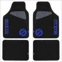 Black Blue Car Mats