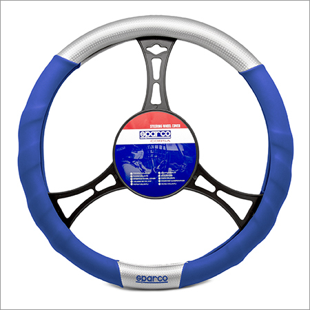 Silver Carbon Steering Wheel Cover