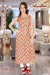 Free Size Ladies Palazzo Top
