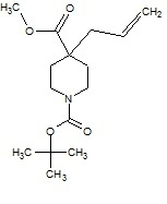 Methyl 4-allyl-1-boc-piperidine¬4-carboxylate
