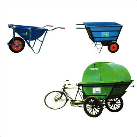 Wheel Barrow Garbage Rickshaw