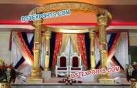 Wedding Fiber Jali Bottle Crystal Mandap