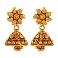 Classice  Copper  Dangling Jhumki Earrings