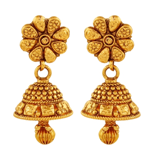 Gold Plated  Antique  Dangling Jhumki Earring