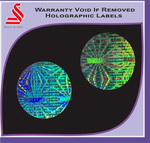 Hologram Warranty Void If Removed Holographic Labels