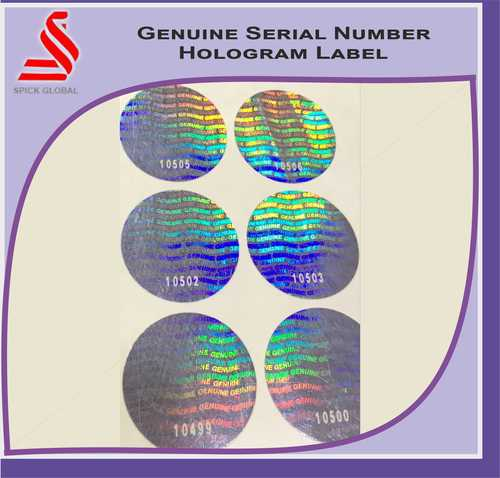Holographic Genuine Serial Number Hologram Labels