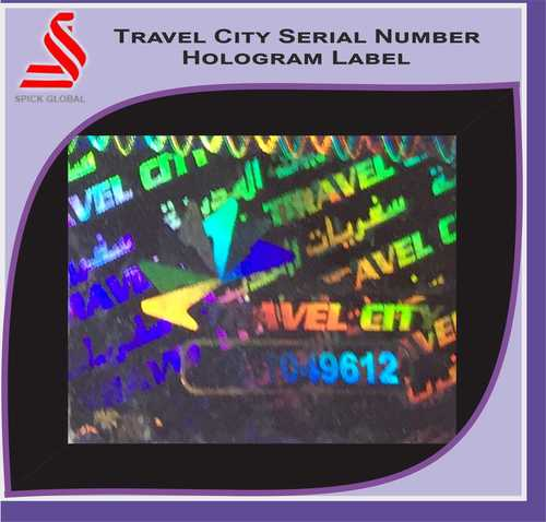 Holographic Travel City Hologram Serial Number Hologram Label