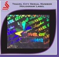 Holographic Travel City Hologram Serial Number Hologram Label