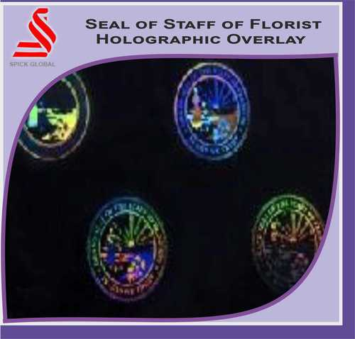 Holographic Seal of Staff of Florist Hologram Overlay Label