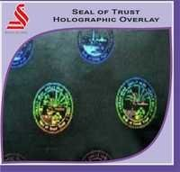 Seal Of Trust Holographic Overlay For Pvc Cards